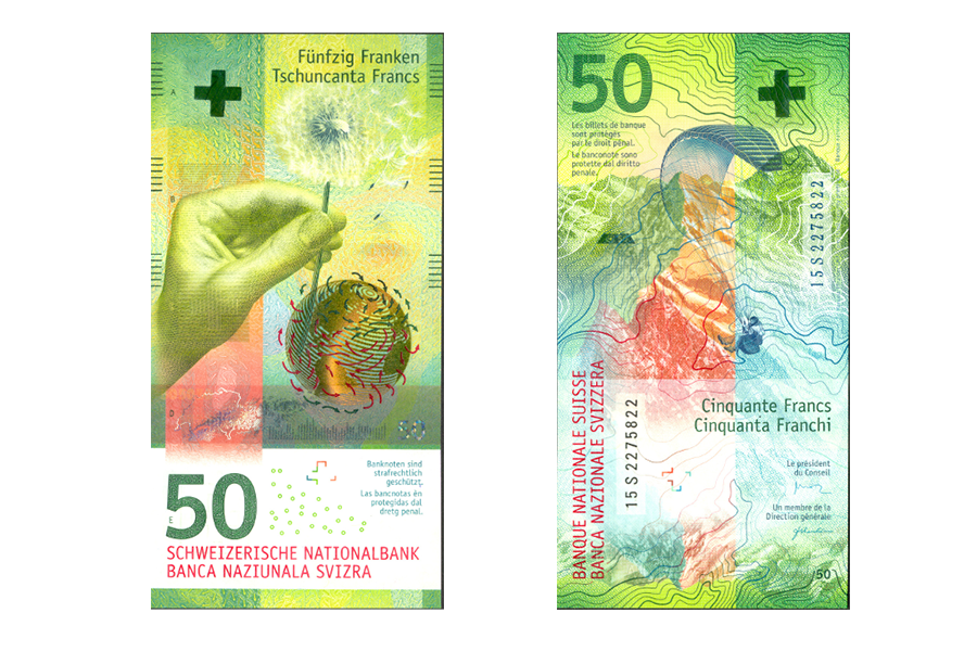 Swiss 50 Franc hybrid note