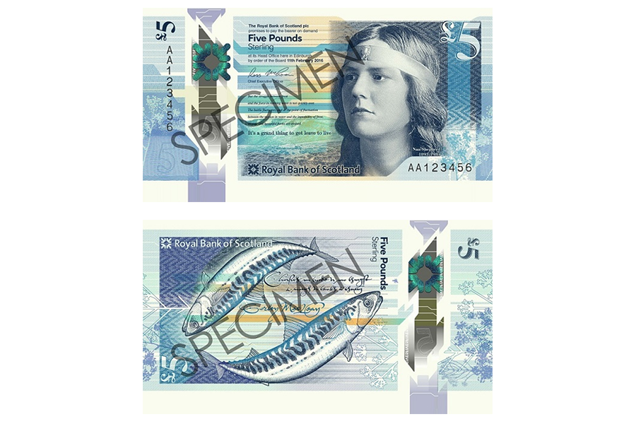 Scotland's 5 Pound Note (Royal Bank of Scotland)