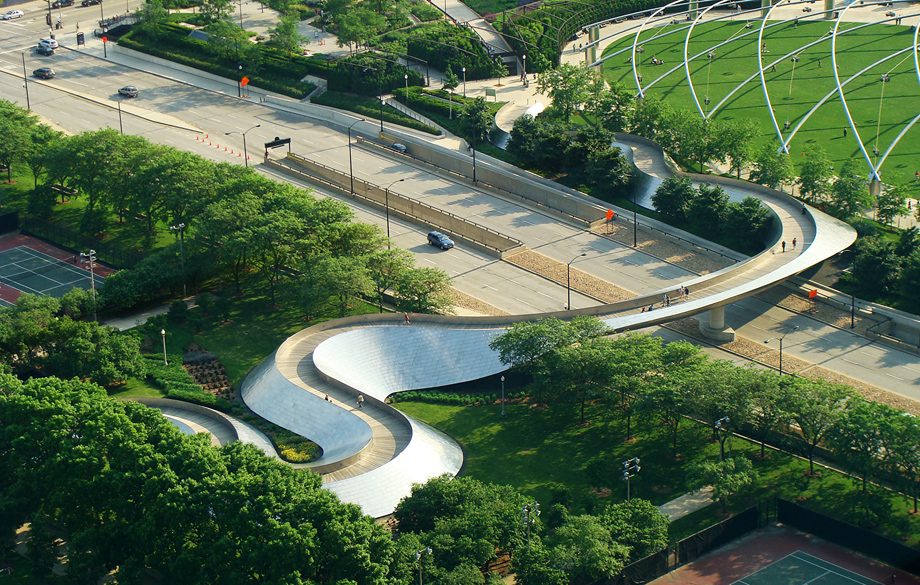 BP Pedestrian Bridge, Chicago, IL, 2004