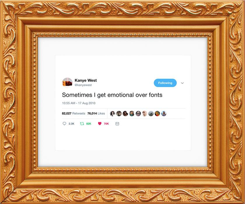 Твіти Кан'є Уеста продають як картини по 49 доларів